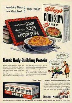 Kellogg's Corn-soya Shreds & Variety Cereals (1949)