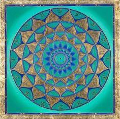 Mandala - The Art of Paul Heussenstamm Mandalas Drawing, Mandala Art, Zentangles, Vert Turquoise, Aqua, Teal, Meditation, Simple Mandala, Vinyl Paper