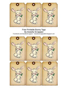 Free Easter Bunny Tags