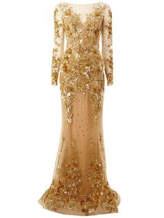 Shop Zuhair Murad embroidered long train gown in L'Eclaireur from the world's best independent boutiques at farfetch.com. Shop 400 boutiques at one address.