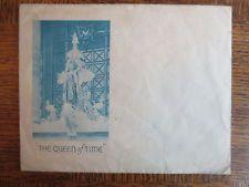 Vintage SELFRIDGES London Advertising Envelope The Queen of Time Clock OLD