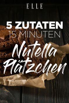 5 Zutaten und fertig in 15 Minuten: das Rezept für Nutella Plätzchen#nutella #plätzchen #rezept #cookies #biskuit #choclate #christmas #weihnachten #recipe Nutella Brownies, Nutella Cookies, Food Trends, Smoothies, Snack Recipes, Chips, Tasty, Desserts, Cookies Ingredients