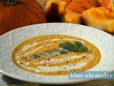 Pumpkin soup with gorgonzola