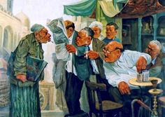 Swearing women ردح النساء In Sept I attended a fine arts exhibition at Jeddah Atelier and I was amazed by the caricature painti. Egyptian Art, Chinese Painting, Pictures To Paint, Love Art, Caricature, Surrealism, Art Gallery, Animation, Drawings