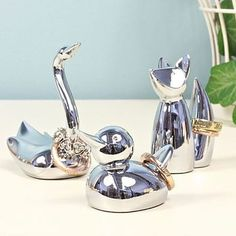 chrome animal ring holder by lisa angel homeware and gifts   notonthehighstreet.com