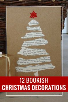 Love this creative DIY Christmas card. Click for more bookish Christmas decoration ideas.
