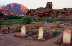 Historic Grafton ghost town on the National Register of Historic Sites in Southwestern Utah. Haunted Places, Abandoned Places, Route 66, Zion National Park, National Parks, Mormon Pioneers, Utah Vacation, St George Utah, Old Cemeteries