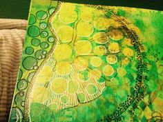 Oranges & Lemons First stage. Dylusion inks & paints, paint pens