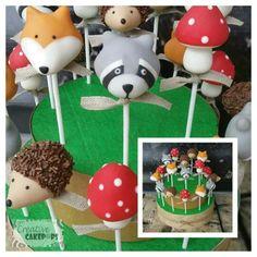 Wood themed cake pops