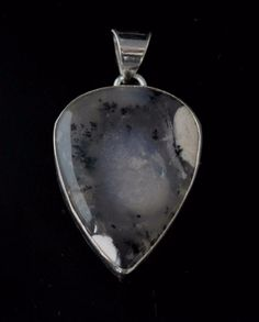 Natural Dendrite Opal Sterling Silver Plated Pendant Wedding Gift For Her F357 #valueforbucks #Pendant