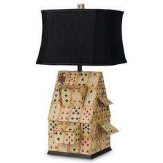 Game Room! Find it at the Foundary - House of Cards Table Lamp