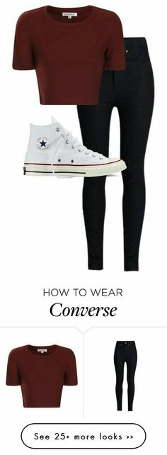 Back to school look. ad backtoschool ShopStyle shopthelook SummerStyle+ Back to school look. Legging Outfits, Crop Top Outfits, Outfits With Converse, Converse Shoes Outfit, Teen Fashion Outfits, Mode Outfits, Winter Outfits, Womens Fashion, Latest Fashion
