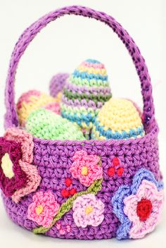 [Free Pattern] Easter Crochet: Spring Easter Basket