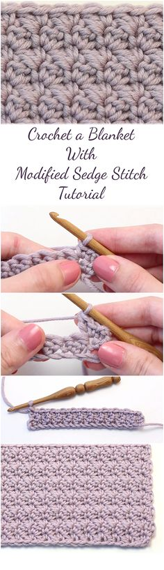 This step-by-step tutorial (+Video) is for crocheting lovers who want to learn how to crochet Blanket With Modified Sedge Stitch by following a guide + Video! | Randoff.com