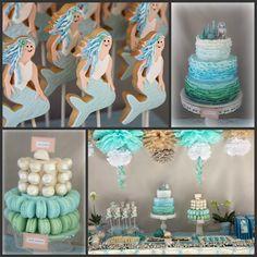 Aqua Ocean, Driftwood and Ruffle Inspired Birthday party