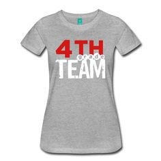 Womens 4th Grade Team. Add your name to the back! Changing text is currently only available from a desktop computer. The place for AMAZING teacher shirts for all grades and special school days! With Teacher T-Shirts you get fun designs for spirit wear in all sizes. **See printingcare information below. SizeMeasurement details available at the bottom of this page.**