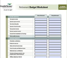 Printables Retirement Budget Worksheet household budget worksheets and worksheet retirement budget