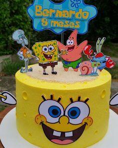 Tinkerbell Birthday Cakes, Birthday Wishes Cake, Fruit Birthday, Baby Birthday Cakes, Little Boy Cakes, Cakes For Boys, Bolo Mickey Baby, Spongebob Birthday Party, Disney Cakes