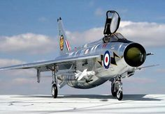 The legendary English Electric Lightning - One of my favourite Cold War era jets. It's astonishing ROC and exceptional performance marked it out as ahead of it's time and a pilot's favourite. Military Jets, Military Aircraft, Air Fighter, Fighter Jets, Reactor, War Jet, V Force, Aircraft Pictures, Jet Plane
