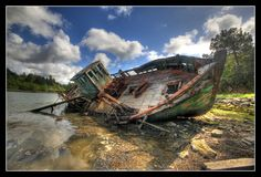 """No country for old boats"" at Bénodet, Brittany, France.  by shellorz"