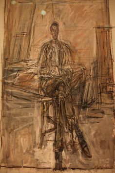 Alberto Giacometti, Seated Man (painting)
