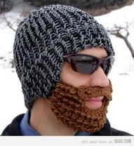 beard hat.  SO much cooler than a ski mask. ;)  would work great for the facial-hair-challenged men in my life. :)