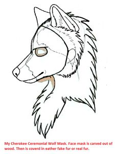 This is a Ceremonial Cherokee Wolf Clan Mask I'm working on making.