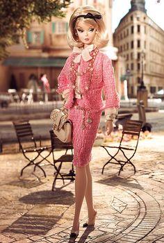 En rosa , elegante