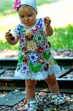 Irish Crochet, Crochet Baby, Irish Lace, Crochet Fashion, Baby Dress, Embroidery, Clothes For Women, Knitting, Dresses