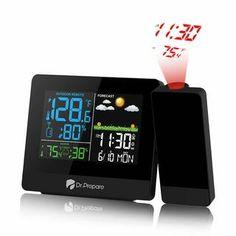 Dr. Prepare Projection Alarm Clock - 003 Projection Alarm Clock, Travel Alarm Clock, Radio Alarm Clock, Outdoor Projector, Digital Projection, Digital Thermometer, Wall Outlets, Digital Alarm Clock, Billboard