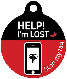 Platinum Pets Lost and Found Small Scannable Pet ID Recovery Tag in Candy Apple Red ** Check out this great product.