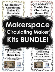 Inspire your students to develop problem solving and critical thinking skills while having fun and being creative... Circulate makerspace kits to check out to students so they can build and create at home!