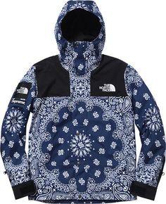 Supreme X North Face Blue Bandana Jacket