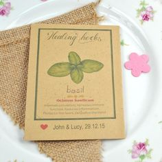 13e0119e0 Recycled seed packet wedding favour - recycled and eco-friendly ...