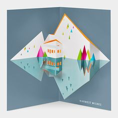 Modern Chalet Holiday Cards | MoMAstore.org