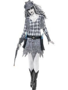 2018 Smiffys Women's Ghost Town Cowgirl Costume and more Cowgirl Costumes for Women, Women's Halloween Costumes for Cowgirl Halloween Costume, Funny Couple Halloween Costumes, Pop Culture Halloween Costume, Halloween Fancy Dress, Girl Costumes, Costume Ideas, Halloween Horror, Halloween Party, Halloween 2019