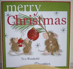 Memory Box Grand Merry Christmas and Stampendous - house Mouse 'Deck the Halls' http://www.samueltaylors.co.uk/