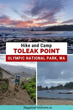 Hike and camp on a wilderness beach in Olympic National Park. Toleak Point is a beautiful hiking trip along the coast. Learn everything you need to know to hike to Toleak Point on the South Coast Wilderness Trail. Hiking and backpacking in Olympic National Park. North Cascades National Park, Canyonlands National Park, Grand Teton National Park, Rocky Mountain National Park, Yellowstone National Park, Camping In Washington, Washington State, American National Parks, Us National Parks