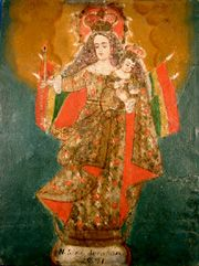 Retablos   Virgen de Socaba(Socava), Virgin of Miners