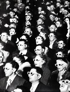 Watching Bwana Devil in at the Paramount Theater, Hollywood, (J.Eyerman—The LIFE Picture Collection/Getty Images) Lorde, 3d Cinema, Margaret Bourke White, American Literature, Spectacle, Life Pictures, Wall Pictures, Photo Essay, Life Magazine
