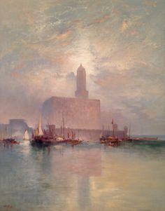 "Thomas Moran (1837-1926), ""Veracruz"" - (""The American Spirit: Painting and Sculpture from the Santa Barbara Museum of Art"" @ Tampa Museum of Art ~ Tampa, Florida, USA)"
