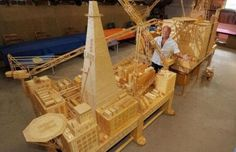 Former oil rig worker spent 15 years making a oil rig model made from 4 billion matchsticks! Matchstick Craft, Oil Industry, Oil Rig, Crude Oil, Wow Art, Busy At Work, Oil And Gas, Wood Toys, Art Object