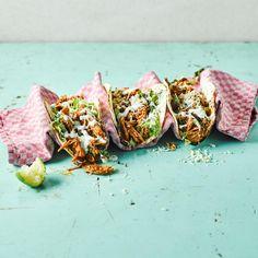 Chicken Tinga Tacos With Lime Mayo