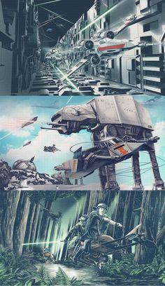 Star Wars prints by Nicholas Alejandro on Behance #starwars #fanart
