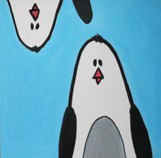 Pengiun kids painting