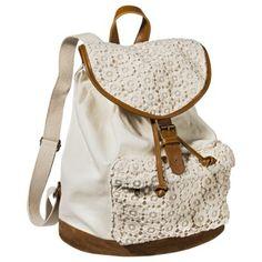 Mossimo Supply Co. Crochet Backpack Handbag - Ivory (Sold at Target)