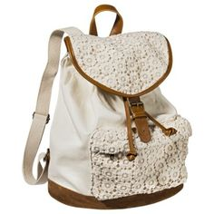 Mossimo Supply Co. Crochet Backpack Handbag - Ivory