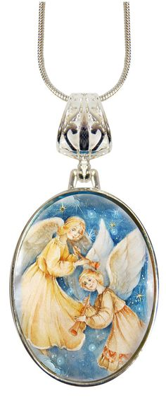 Guardian Angels Oval Charm Pendant, Museum Icon Jewelry Collection, handcrafted Silver Plated mother-of-pearl, Religious Charm Gift 037 by Iconartbyhand on Etsy  #Guardian #Angels #Angel #Charm #Pendant #Museum #Icon #Jewelry #handcrafted #SilverPlated  #motherofpearl #Religious #Gift #OceanPearl #Pearl #Trumpet #Music #Heaven #Heavenly #Stars #Star #sky #GuardianAngel