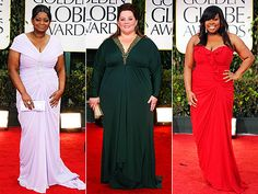 Octavia Spencer, Melissa McCarthy, Amber Riley at the Golden Globes #plus-size #fashion #model