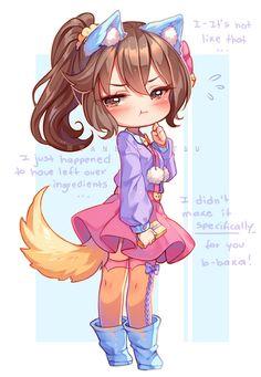 [+Video] Commission - Kitten Love by Hyanna-Natsu on DeviantArt Cute Anime Chibi, Kawaii Chibi, Kawaii Art, Kawaii Anime Girl, Chibi Girl Drawings, Kawaii Drawings, Cute Drawings, Chibi Characters, Cute Characters